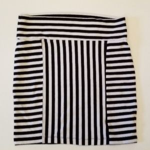 Decree Multi-stripe Mini Skirt